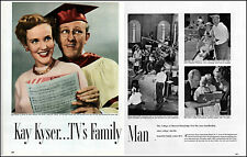 1950 Kay Kyser & Georgia Carroll TV's Family man 2 page photo article adL99