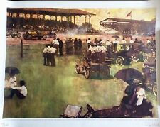 INDIANAPOLIS 500 ORIGINAL RARE LIMITED EDITION LITHOGRAPH SIGNED BY BERNIE FUCHS