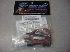 STREET MAGIC CYCLE PRODUCTS LICENSE PLATE BOLT KIT WITH LED LIGHT TB01B BLACK