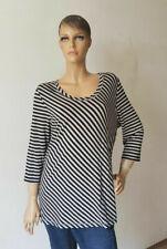 Shirt Damen Langarm schwarz weiß gestreift XL (2005DE5#) 07/2020