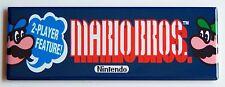 Mario Bros Marquee FRIDGE MAGNET (1.5 x 4.5 inches) arcade video game super