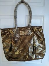 Mary Kay Animal Cheetah Print Large Metallic Gold Tote Purse Handbag NEW
