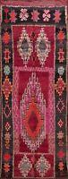 Vintage Geometric Tribal Moroccan Runner Oriental Area Rug Handmade WOOL 6x13 ft