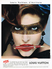 PUBLICITE ADVERTISING 035  1998  LOUIS VUITTON   l' ECRITURE stylos APPM