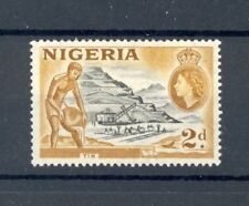 """Nigeria 1953 - 58 issue, """"Tin"""", SG 72, mint hinged, scanned both sides"""