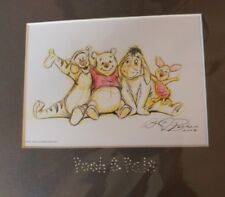 New Nip 2007 Special Edition Swarovski Pooh & Pals Lithograph with Certificate