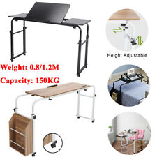 Adjustable Height Mobile Over Bed Table Laptop Computer Table & Drawing Board US
