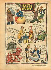 WWII Caricature Guerre Consommation Député Finland Bolcheviks 1940 ILLUSTRATION