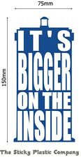Doctor Who-più grande sul lato interno Sticker, vinile, decalcomania, Auto, Adesivo