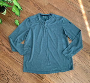 Under Armour Athletic Hiking Outdoors Long Sleeve Shirt Top Men's Size L Green