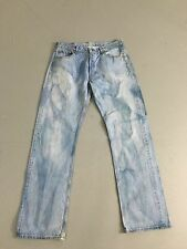 Men's Levi 501 Jeans - W34 L34 - Faded Navy Ty Dye Wash - Great Condition