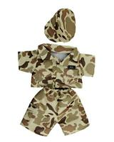 "10"" DESERT ARMY CAMOUFLAGE OUTFIT TEDDY CLOTHES FITS 8""-10""(25cm) TEDDY BEARS"