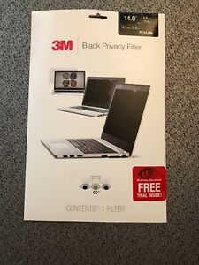 3M Black Privacy Filter for Widescreen Screen Laptop 14 inch PF140W9B New Sealed
