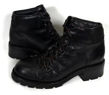Frye Alta Hiker Women's Size 7 B Black Leather Lace Up Ankle Hiking Boots