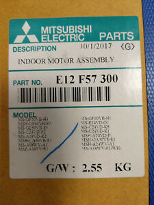 Mitsubishi Air Conditioning E12F57300 MS-GF50 MSH-GF D204P40MT indoor fan motor