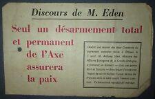 Tract Largué par AVion RAF WW2