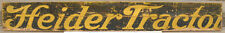Early Heider Tractor Sign Old Gas Engine Hit Miss Steam Rock Island Plow Company