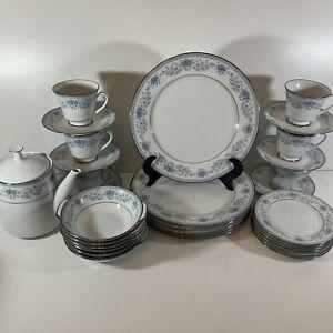 Noritake Blue Hill Dinner & Tea  Set For 6 Places - 31 Pieces