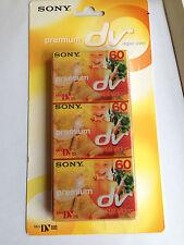 3 sony premium mini dv tapes