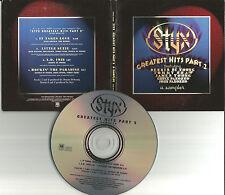 tommy Shaw STYX Rare 1996 USA PROMO CD SAMPLER 4TRX w/ TOUR DATES Dennis Deyoung