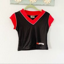 Les Mills Body Pump Cropped Workout Shirt Red and Black Women's Size Small