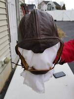 WW2 USArmy/Navy NAF1092 Summer Flight Helmet w/ TH-37 Receivers Unissued Size 7