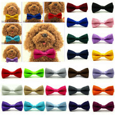 Solid Color Plain Cat Dog Puppy Pet Kitten Toy Bow Tie Necktie Collar Clothes