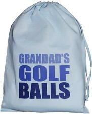 Grandad's Golf Balls - SMALL blue drawstring bag - 25cm x35cm  - SUPPLIED EMPTY