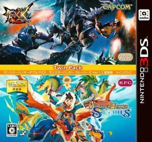 3DS Monster Hunter Twin Pack XX Double Cross Monster Hunter Stories Nintendo