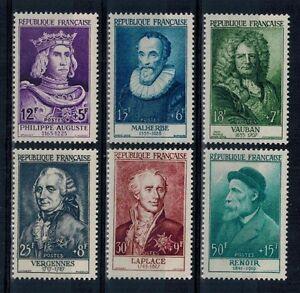 (a23) timbres France n° 1027/1032 neufs** année 1955