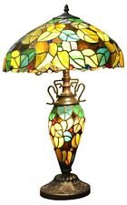 Double Tiffany Lamp Electric Light Multi Coloured Home Lighting Decor 52cm New