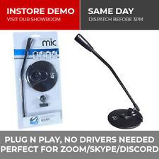 More details for lightweight windows 10 desktop computer mic microphone black with 3.5mm jack pc