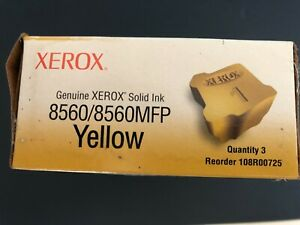 Genuine Xerox 108R00725 Solid Ink 8560/8560MFP Yellow
