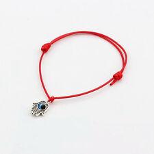 Lucky Red Cord Hamsa Hand Turkish Eye Charm Pendant Kabbalah Bracelet Amulet