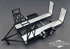 GMP 18820 1:18 SCALE TANDEM CAR TRAILER W/ TIRE RACK BLACK