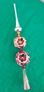 Vintage Retro Christmas Double Concave Mercury Glass Tree Topper 16 inches