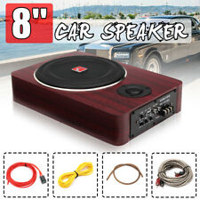 8'' 600W Under-Seat Car Active Subwoofer Speaker Stereo Bass Audio Powered Amp