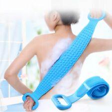 Silicone Brush Rubbing Back Mud Peeling Body Massage Shower Bath Towel skinclean