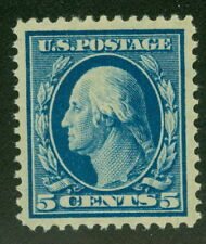 US #378 5¢ blue, og, LH, XF/Superb