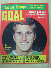 GOAL MAGAZINE APRIL 10 1971 SWINDON TOWN - LIVERPOOL - DERBY - EVERTON - BURNLEY