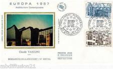1987**ENVELOPPE SOIE**FDC 1°JOUR!!**EUROPA-ARCHITECTURE**TIMBRE Y/T 2471-2472