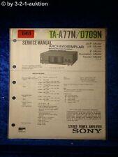 Sony Service Manual TA A77N / D709N Amplifier  (#0848)