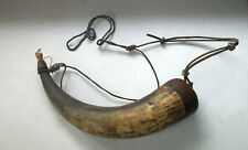 Very Old Powder Horn with Original Plug  Untouched  Circa 1880s