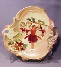 Hand Painted Original Artist Signed Porcelain Fuchsia Flower Fairy Plate - WOW!
