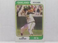 1974 Topps Jim Catfish Hunter #7 baseball card