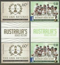 AUSTRALIA 2014 ASHES VICTORY THE URN RETURNS SERIES 5-0 GUTTER PAIRS MUH (No 2)