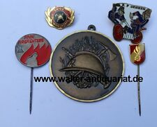 5x Medaille/Anstecknadeln/Pins Feuerwehr Skive Behren Finn Firefighters usw