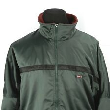 Nike Mens Nylon Jacket Coat XL Fleece Lined Full Zip Multi Pockets Swoosh