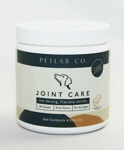 PETLAB Co. Joint Care Dogs Strong Flexible Joints Support - 30 Chews Pork Flavor
