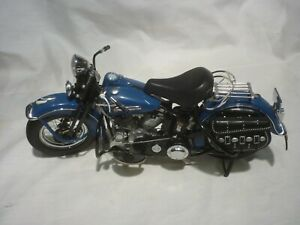 A Franklin mint scale model of a 1948 Harley Davidson Panhead FL